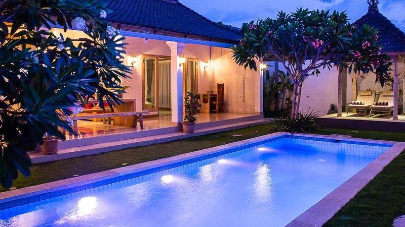 Villa at evening
