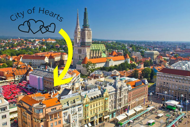 City of Hearts 2 - City Market Dolac Center, vacation rental in Zagreb