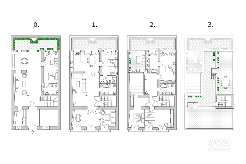 600 sqm: 2 Terraces | 5 Bedrooms + 5 Bathrooms + 2 Living rooms + Kitchen + Patio
