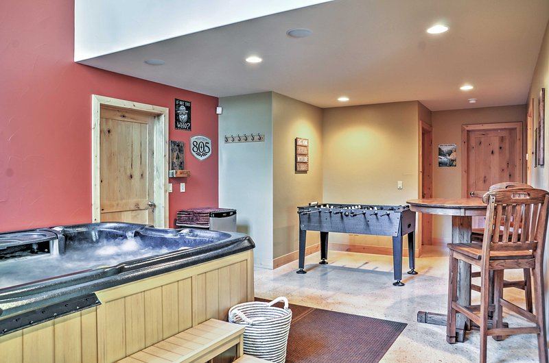 The indoor hot tub adds a touch of luxury to your stay.