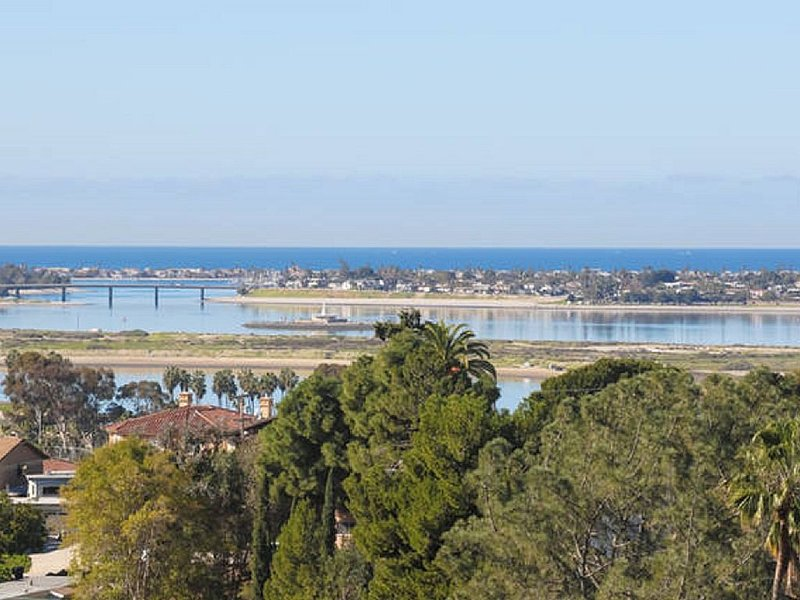 Daytime view of Mission Bay and the ocean