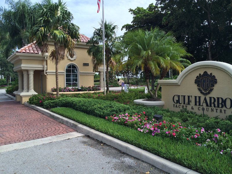 Front gate in the very safe and prestigious Gulf Harbour community.
