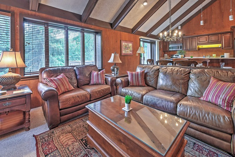Look forward to lounging on the plush furniture.