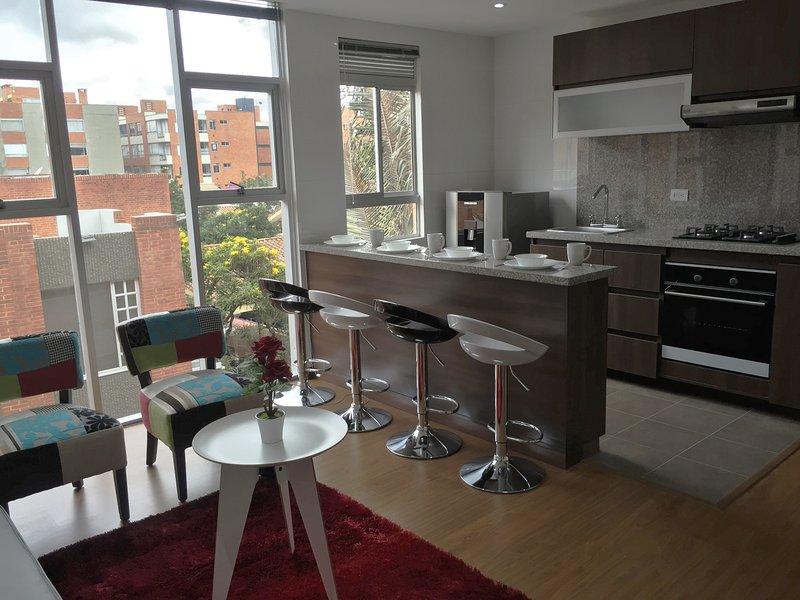 Precioso Apartamento Dos Alcobas en Bogota Calleja, alquiler de vacaciones en Bogotá
