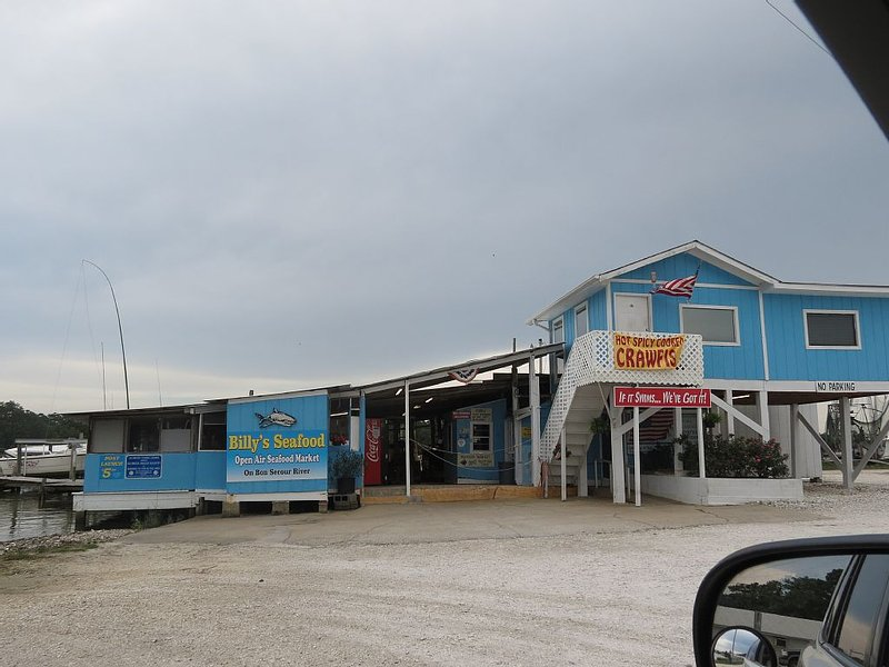 Billy's Seafood nearby on River Rd.  'If it swims, we've got it.'
