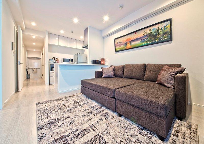 O sofá-cama quarto