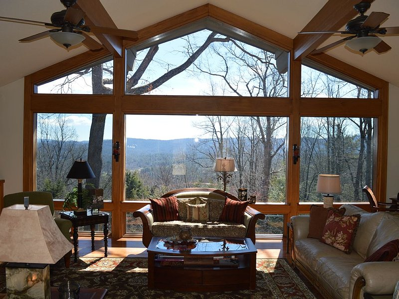 Stunning long distance views from our living room, screened porch and decks