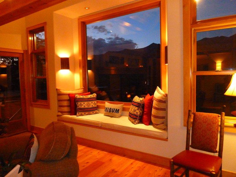lounge room vensterdoos zitplaatsen