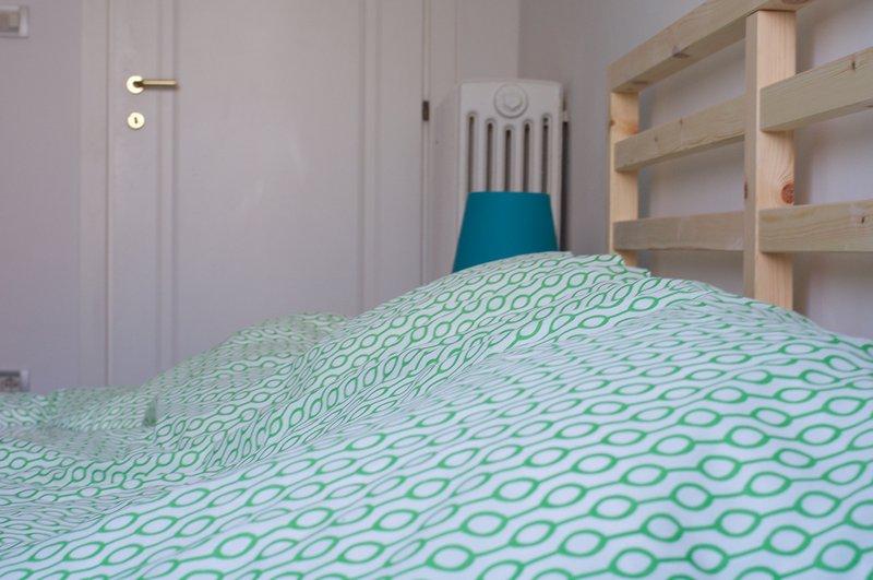 """Camera verde - letto matrimoniale in una sala relax dedicata a """"Venezia e l'acqua"""""""