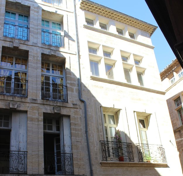 In a gorgeous building in the heart of historic, medieval Pezenas