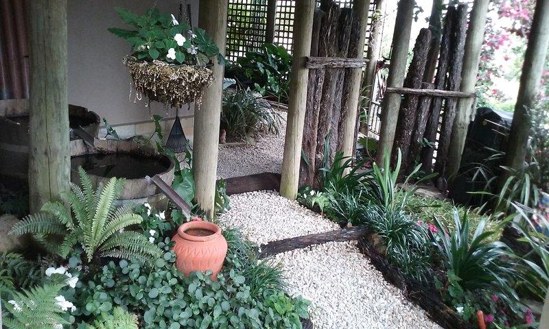 parte sombreada del jardín