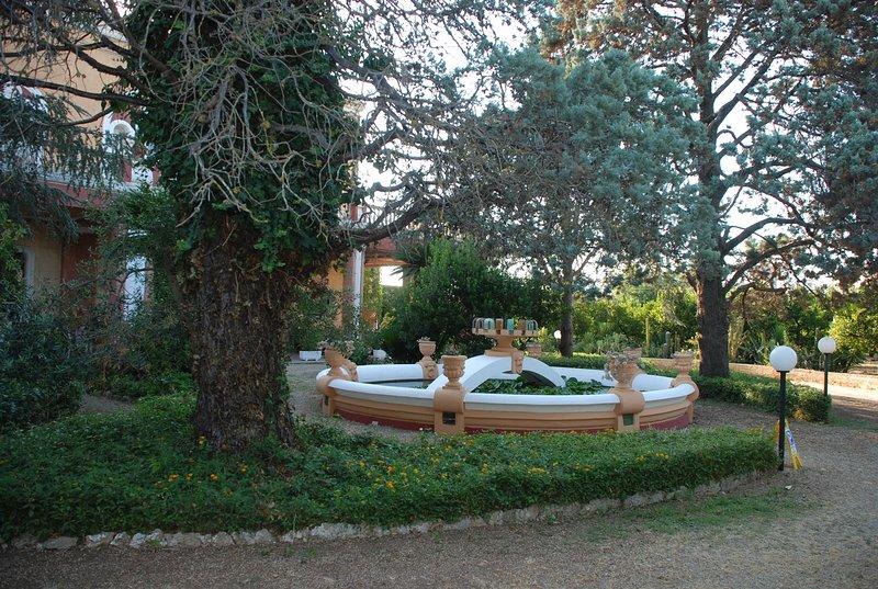 El jardín y la fuente
