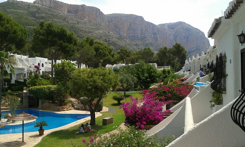 Pool and mountain views from front terrace