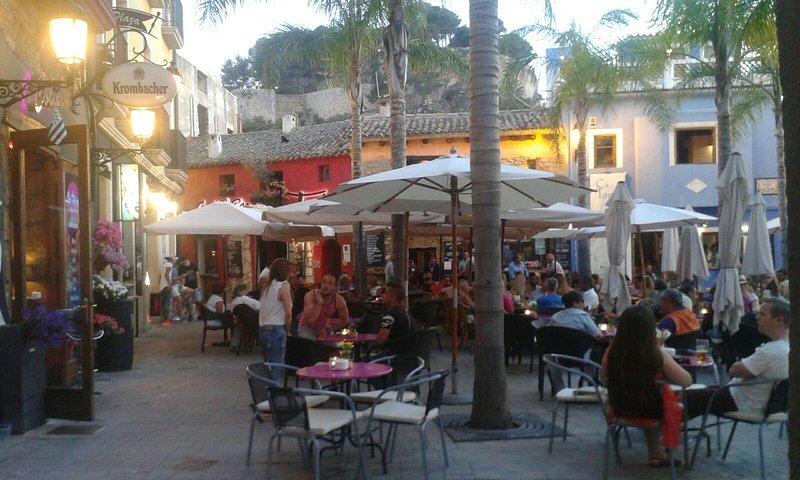 Scenic square just off the promenade in Denia
