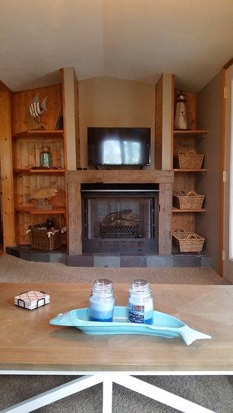 Foyer au gaz et 2 TV!