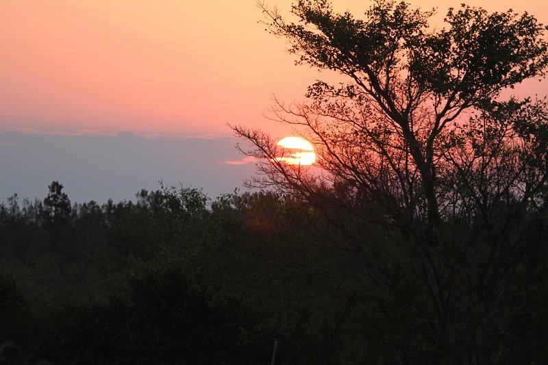 Zonsondergang over Krugerpark