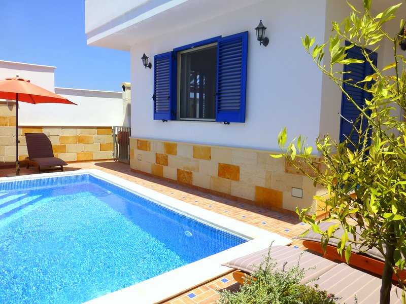 Private swimming pool in rear courtyard