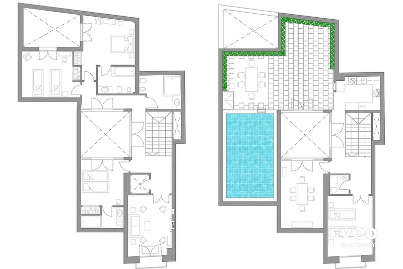 142m² + terrace | first/second floor | no elevator