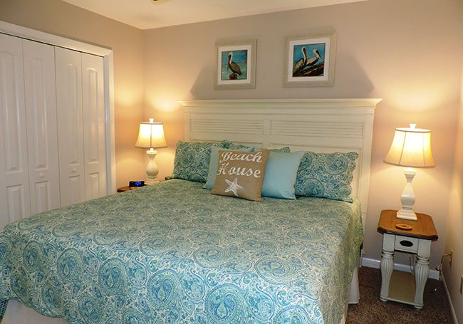 King Size Bed in the Master Suite - Large Master Closet