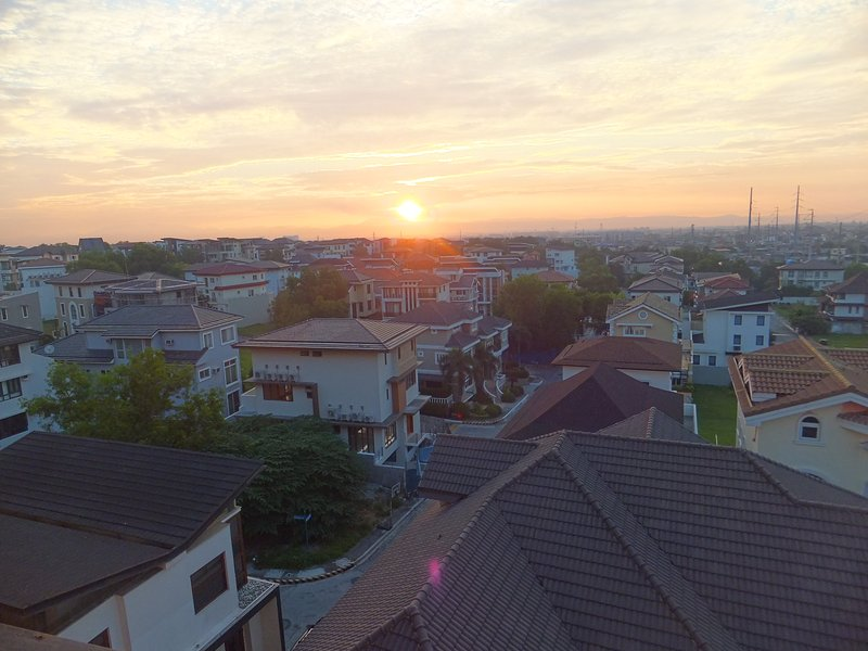 Sunrise como visto a partir da unidade