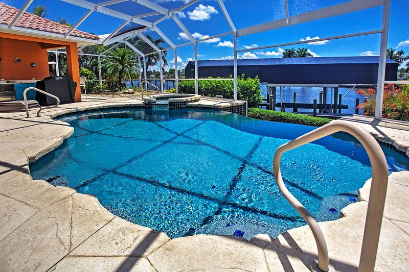 Elevate your Cape Coral vacation when you book this stunning vacation rental home.