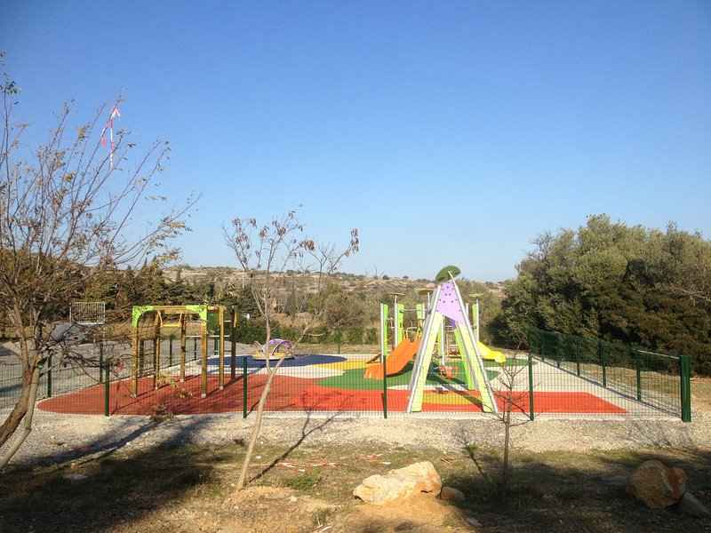 Childrens playground in Fitou