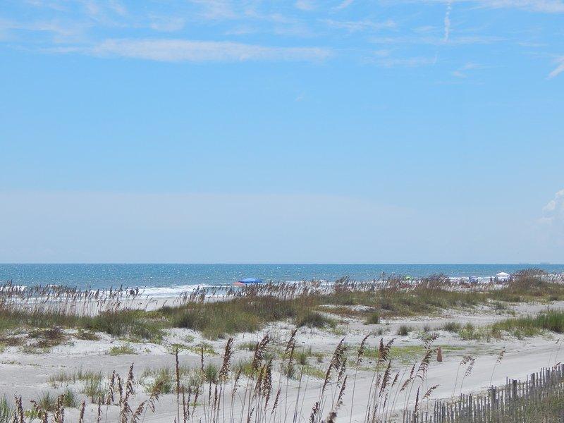 Vue de la plage de St. Augustine de la promenade