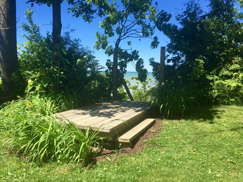 escalera de acceso a la playa