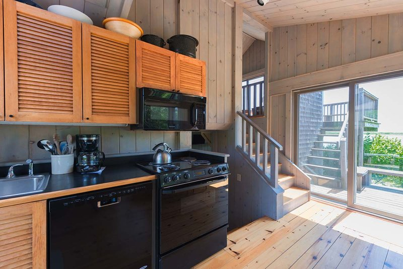 Kitchen opens to Deck and Gorgeous Views