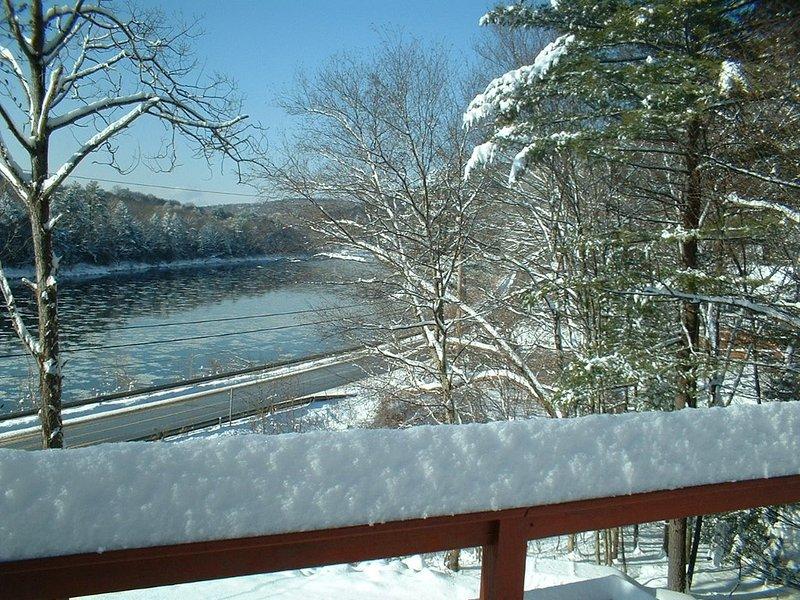 A visão pacífica no inverno. Um dos meus momentos favoritos do ano em casa!