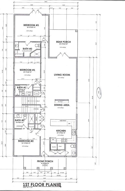 Floor Plan of the 1st floor.