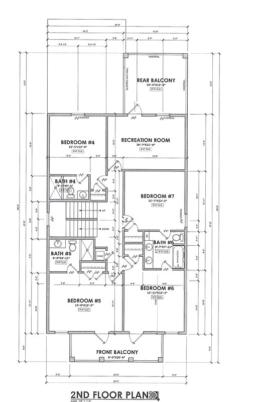 Floor Plan of the 2nd floor.
