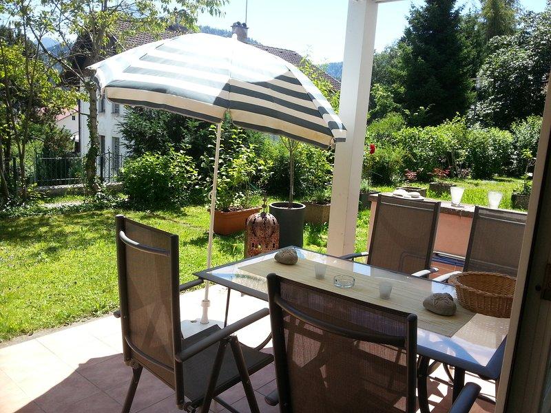 Terrace with beautiful garden