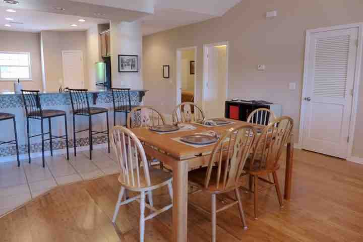 Bring The Family. Dining Table with Seating For Six, and Breakfast Bar Seating for Four. Enjoy!