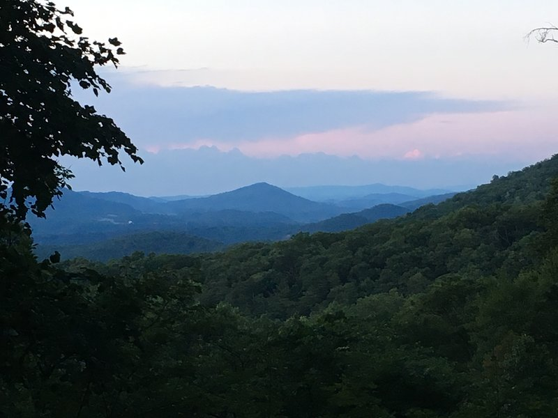 Your view of the surrounding mountains from the cabin, as seen from the screened porch.