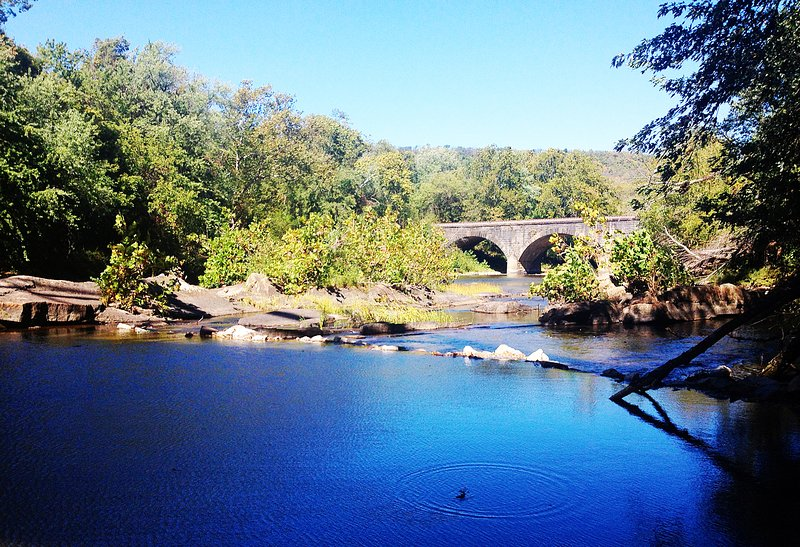 View of the old bridge in Great Cacapon proper.