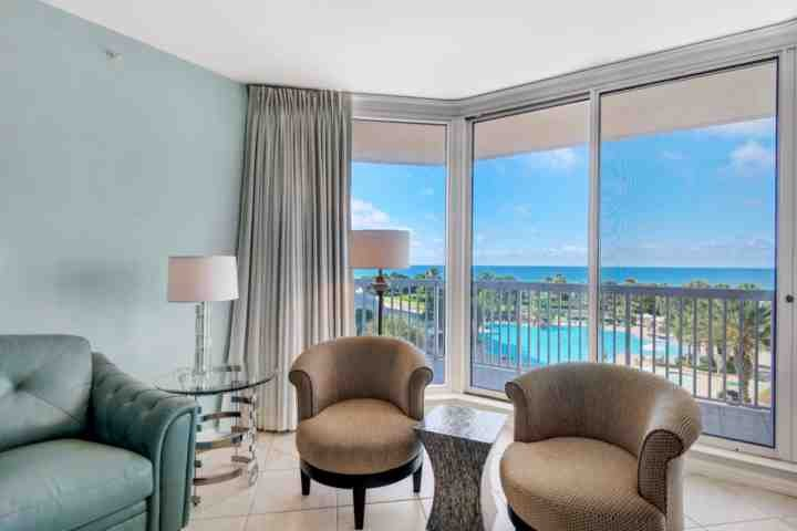 Enjoy the pool and gulf view from the living room