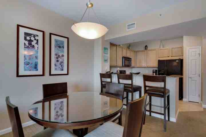 Open dining room and kitchen