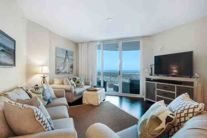Enjoy the gulf views from the living room