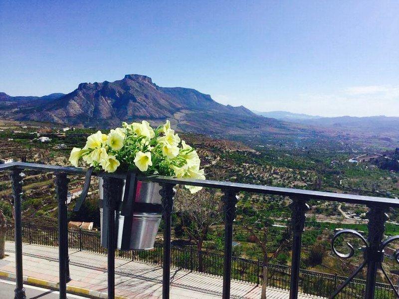 Our wonderful views of the Vega de Velez Blanco. Fairy balcony