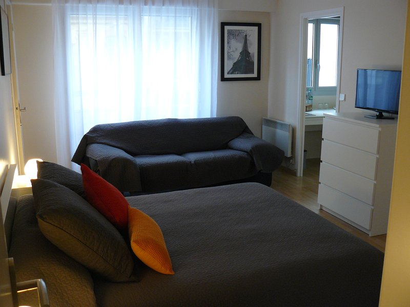 sala principal con sofá-cama