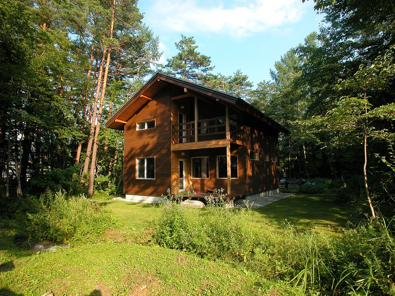 Rear of the Chalet in Summer.