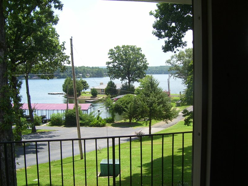 View of Lake Hamilton and Covered Boat Slips from D4 Picture Window