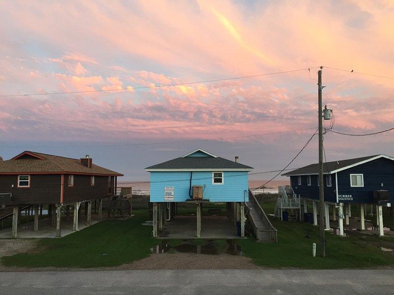 Appréciez les couleurs du ciel et de la mer