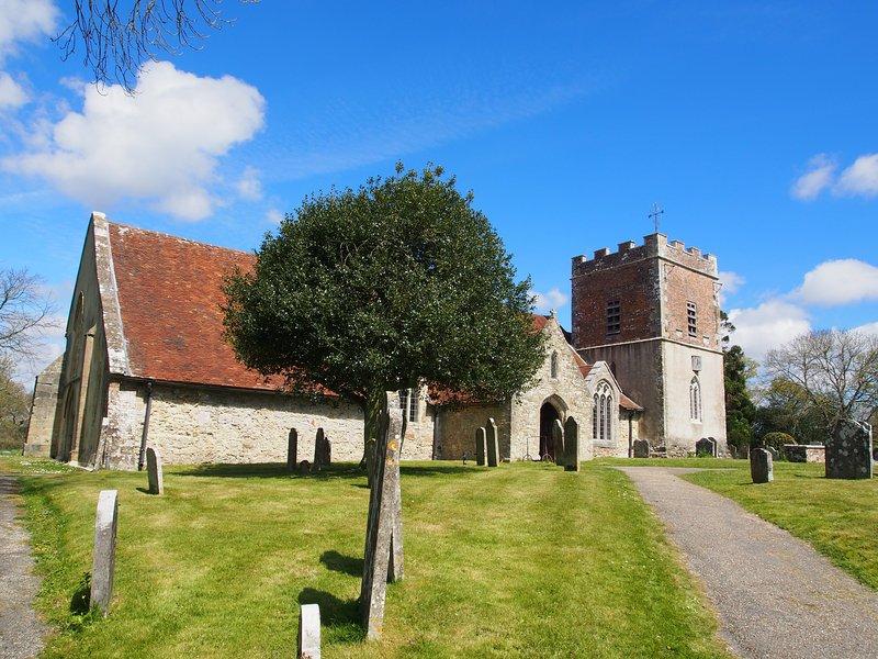 chiesa medievale di Boldre vicina