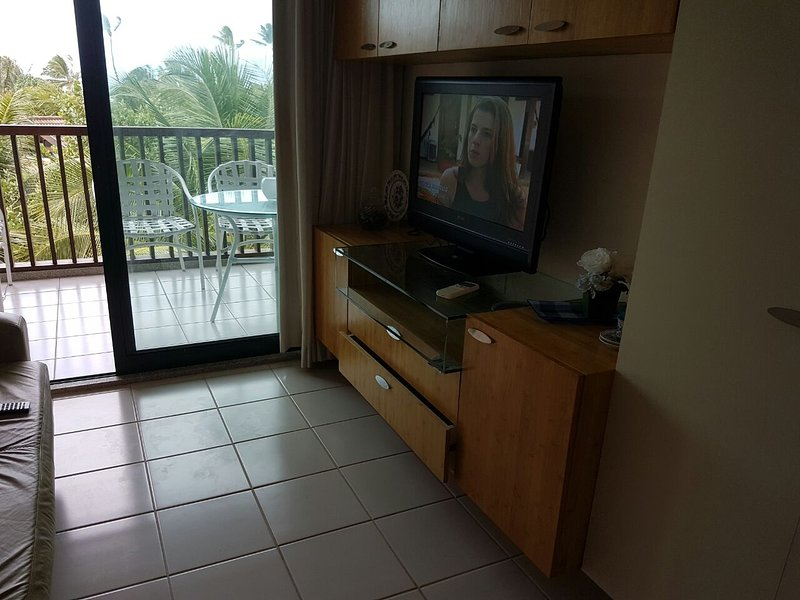 Tv (with international channels) and balcony