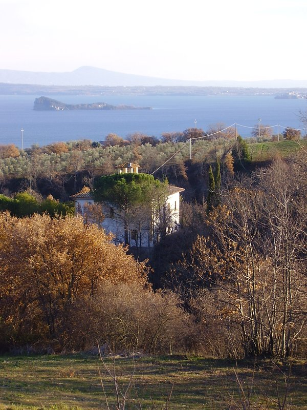 The Villa and the view towards the Bisentina Island