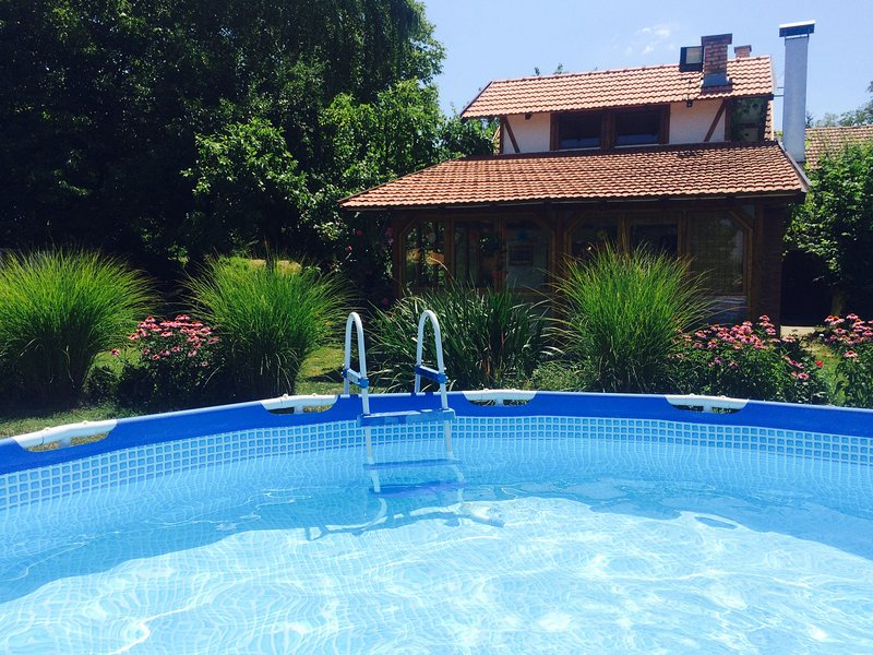Our beautiful garden with  private pool