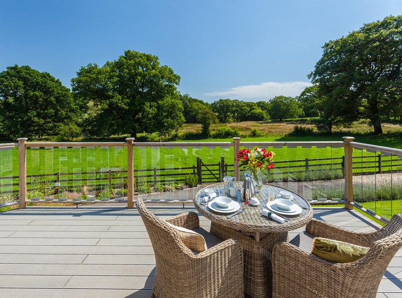 Breakfast can be served to you on your private dining deck