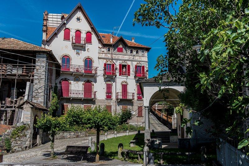 Belvedere castillo-vivienda fachada.